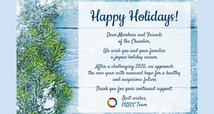 Happy Holidays from all of us at the PUSCC!