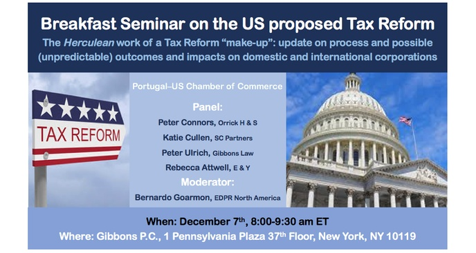 Breakfast Seminar on the US proposed Tax Reform