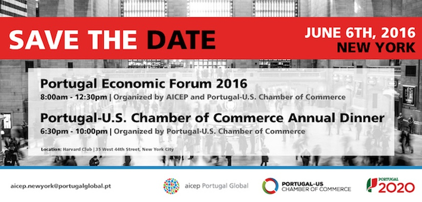 Portugal Economic Forum 2016 and Annual Dinner of Chamber of Commerce Portugal-US
