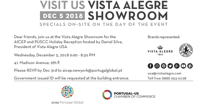 Holiday reception with Vista Alegre